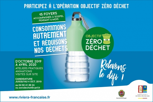 TRI & RECYCLAGE : PARTICIPEZ A L'OPERATION ZERO DECHET A SOSPEL